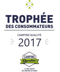 Plaque émaillée trophée des consommateurs 2017 - Camping Qualité