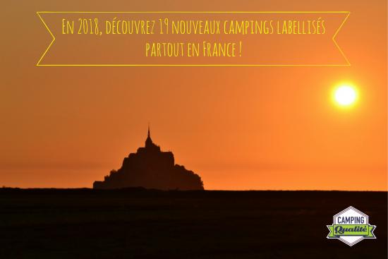 Découvrez les nouveaux campings labellisés de France (2018)