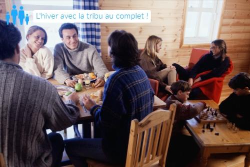 camping hiver : vacances en famille en location chalet france