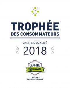 Plaque émaillée trophée des consommateurs 2018 - Camping Qualité
