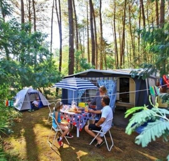 Camping pitch Landes