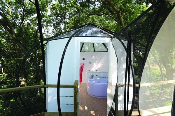 Cabane dans les arbres en Bretagne Camping Qualité