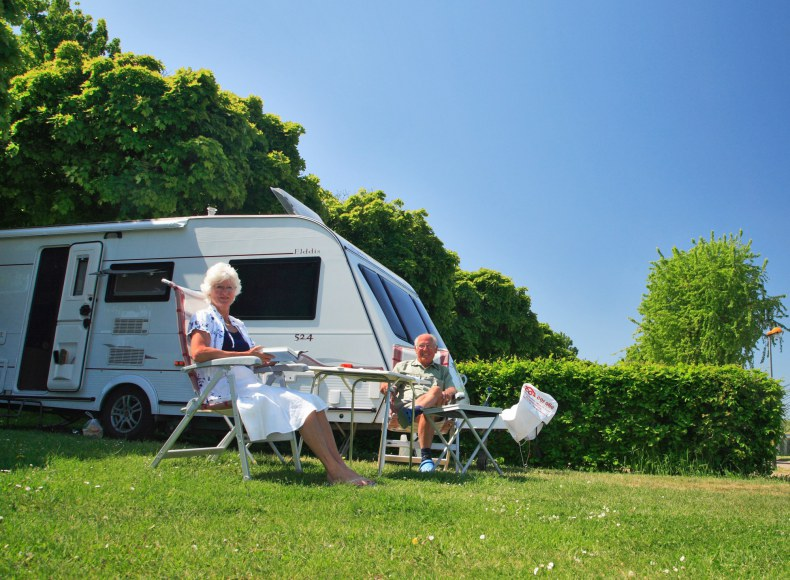 La vie tranquille en caravane au camping Camping Qualité
