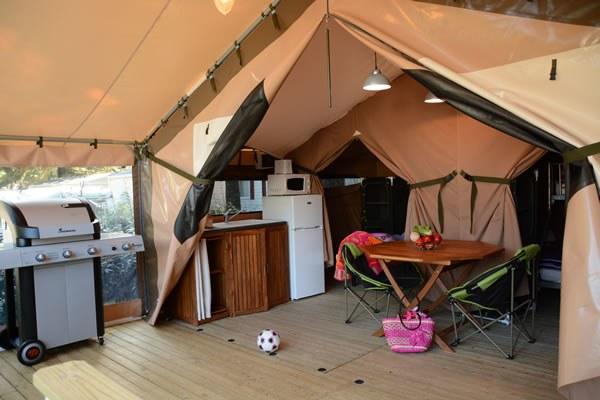 Tente toilée Camping Qualité France
