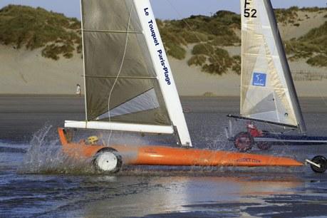 Région Nord-Pas-de-Calais Camping Qualité - pas de calais, Le touquet, course char à voile, Louis Blériot Cup,