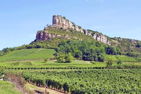 Région Camping Bourgogne Qualité - Roche de Solutre vignoble