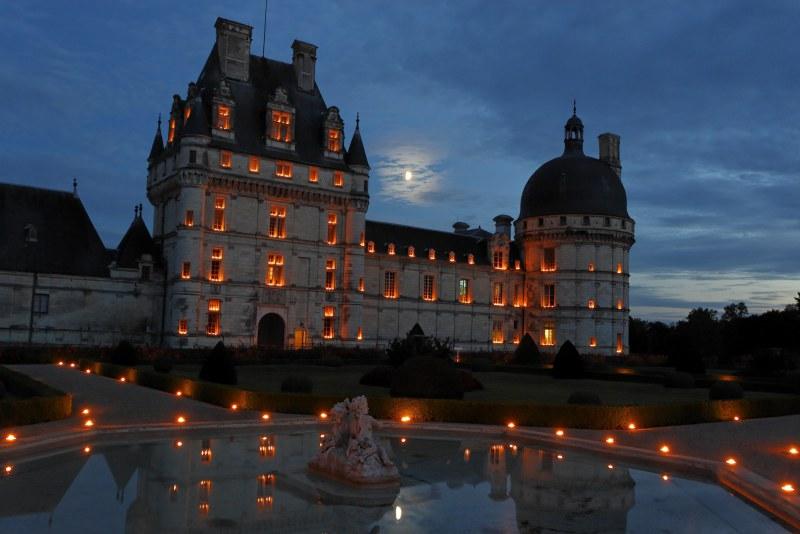 Nocturne aux bougies au château de Valençay Camping Qualité Centre-Val de Loire
