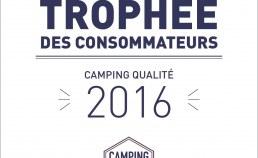 Plaque émaillée trophée des consommateurs 2016 - Camping Qualité