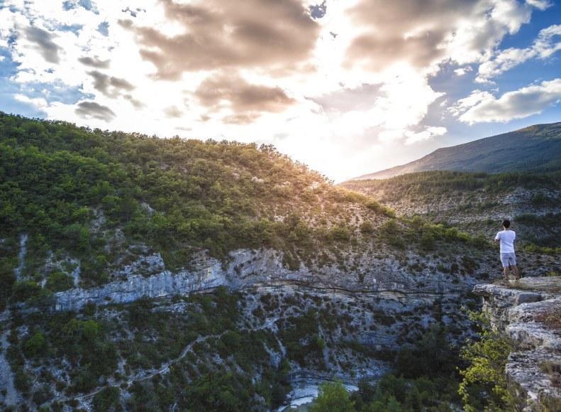 Vue plongeante sur le Canyon du Verdon - Camping Qualité Provence-Alpes-Côtes d'Azur