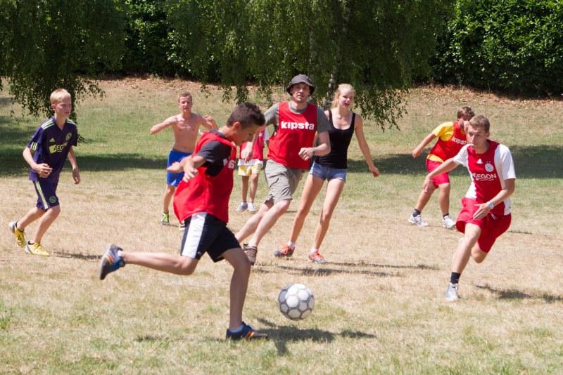 Football au avec Camping Qualité
