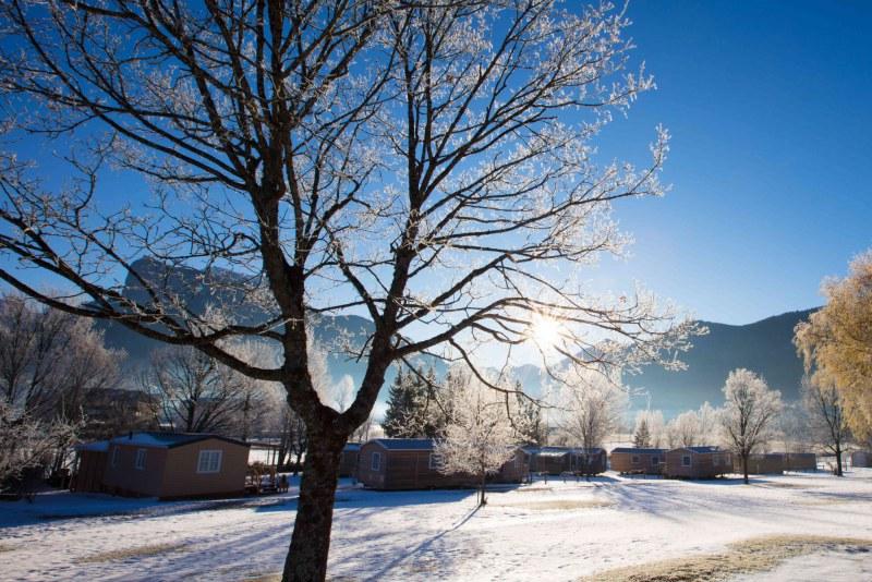Mobil-homes en hiver Camping Qualité en hiver