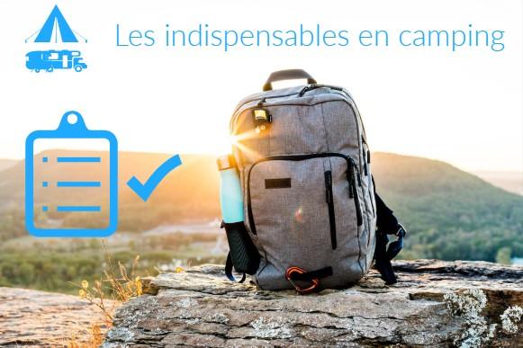 check matériel indispensable pour partir en emplacement camping (tente, caravane, camping-car)