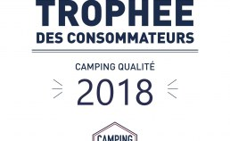 Plaque émaillée trophée des consommateurs 2018 - Camping Qualité