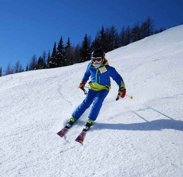 Camping om te skiën